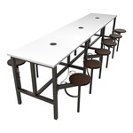 Endure Series Table & Stool Set w/ Whiteboard Top, Electrical Outlet & USB