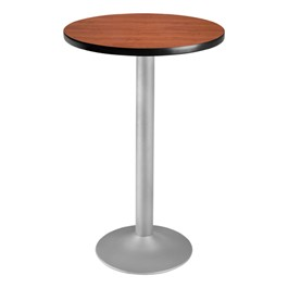 Round Flip-Top Stool-Height Café Table - Cherry