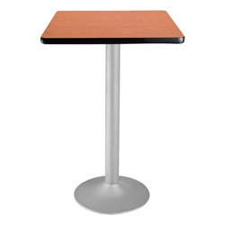Square Flip-Top Stool-Height Café Table - Cherry