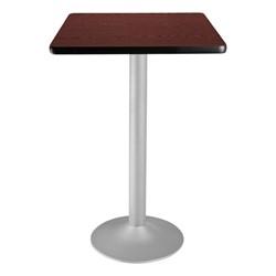 Square Flip-Top Stool-Height Café Table - Mahogany