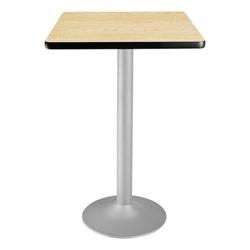 Square Flip-Top Stool-Height Café Table - Oak