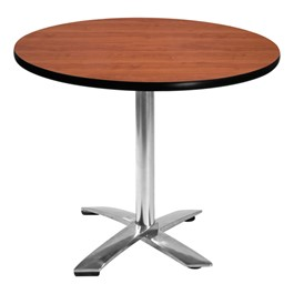 Round Nesting Café Table w/ Flip Top - Cherry