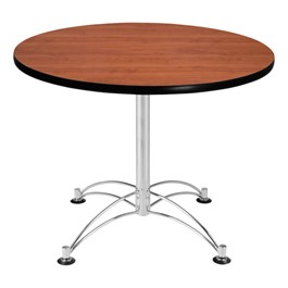 Contemporary Round Café Table - Cherry