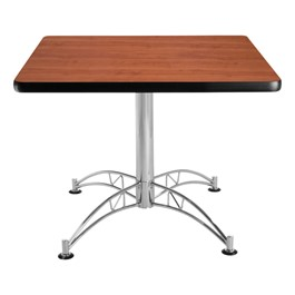 Contemporary Square Café Table - Cherry