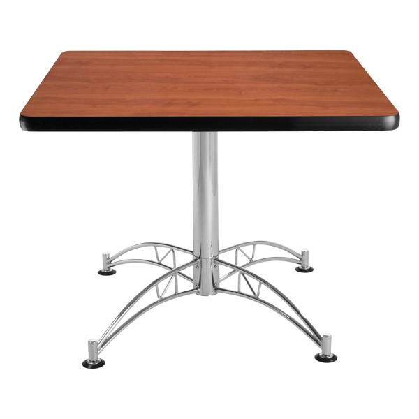 Contemporary Square Café Table - Cherry