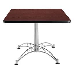 Contemporary Square Café Table - Mahogany