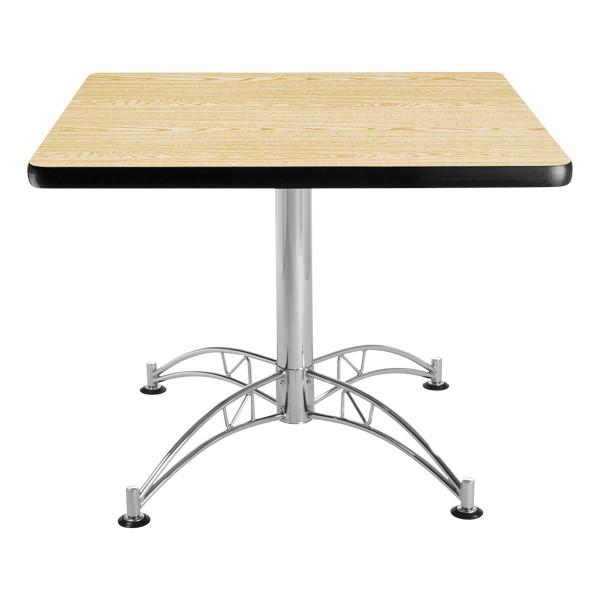 Contemporary Square Café Table - Oak