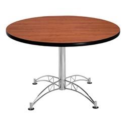 Contemporary Round Café Table - Cherry