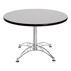 Contemporary Round Café Table - Gray nebula