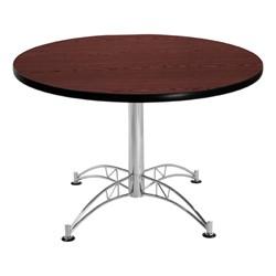 Contemporary Round Café Table - Mahogany