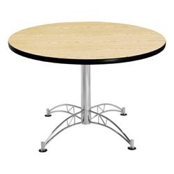 Contemporary Round Café Table - Oak