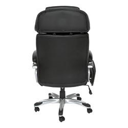 ORO Series Leather Executive Tablet Chair - Back view