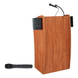 Basic Vision Lectern w/ Wireless Handheld Mic