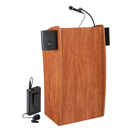 Basic Vision Lectern w/ Wireless Tie Clip Mic