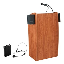 Basic Vision Lectern w/ Wireless Headset Mic