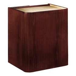 Mahogany Veneer Contemporary Lectern w/o Sound - Base