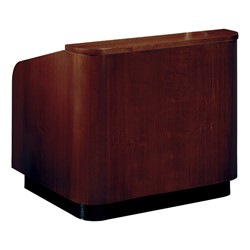 Mahogany Veneer Contemporary Lectern w/o Sound - Top