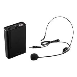 Power Plus Floor Lectern w/ Wireless Headset Mic - Mic