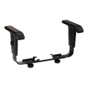 Yes, add an adjustable armrests (+$36.99 per unit)