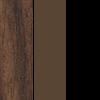 Walnut Top/Brown Frame/Black T-Mold