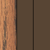 Medium Oak Top/Brown Frame/Brown T-Mold