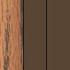 Medium Oak Top/Brown Frame/Brown T-Mold
