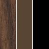 Walnut Top/Brown Frame/Black Edge