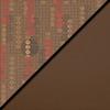 Dark Latte Fabric Top/Chocolate Vinyl Sides