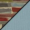 Confetti Fabric Top/Blue Vinyl Sides