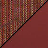 Brick Fabric Top/ Burgundy Vinyl Sides