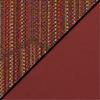 Brick Fabric Top/Burgundy Vinyl Sides