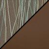 Pecan Fabric Top/Chocolate Vinyl Sides