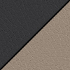 Black Smooth Grain/Taupe Back
