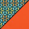 Atomic Fabric Top/Orange Vinyl Sides