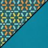Atomic Fabric Top/Teal Vinyl Sides