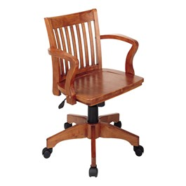 Wood Banker\'s Chair w/ Arms - Fruitwood