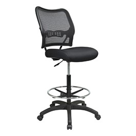 Air Grid Back Drafting Chair - Black