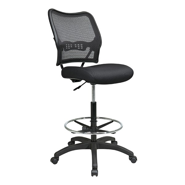 Air Grid Back Drafting Chair - Black
