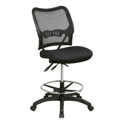 Deluxe Ergonomic Air Grid Back Drafting Chair w/ Padded Mesh Seat