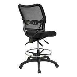Deluxe Ergonomic Air Grid Back Drafting Chair w/ Padded Mesh Seat - Back view