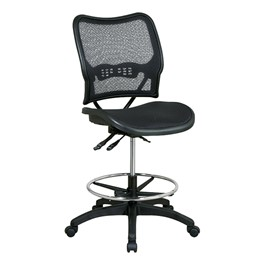 Deluxe Ergonomic Air Grid Back Drafting Chair w/ Mesh Seat