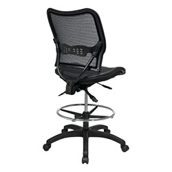 Deluxe Ergonomic Air Grid Back Drafting Chair w/ Mesh Seat - Back view