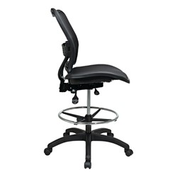 Deluxe Ergonomic Air Grid Back Drafting Chair w/ Mesh Seat - Side view