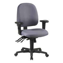 Multi-Function Ergonomic Task Chair - Mid Back - Icon Gray
