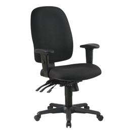 Work Smart Multi-Function Ergonomic Task Chair - High Back - Icon Black