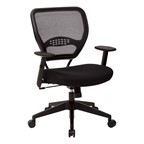 Space Air Grid Series Office Chair - Fabric Seat & Black Frame