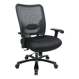 Big & Tall Double Air Grid Back Ergonomic Chair - Shown w/ mesh seat