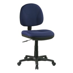 Work Smart Deluxe Ergonomic Task Chair w/o Arm Rests - Icon Navy