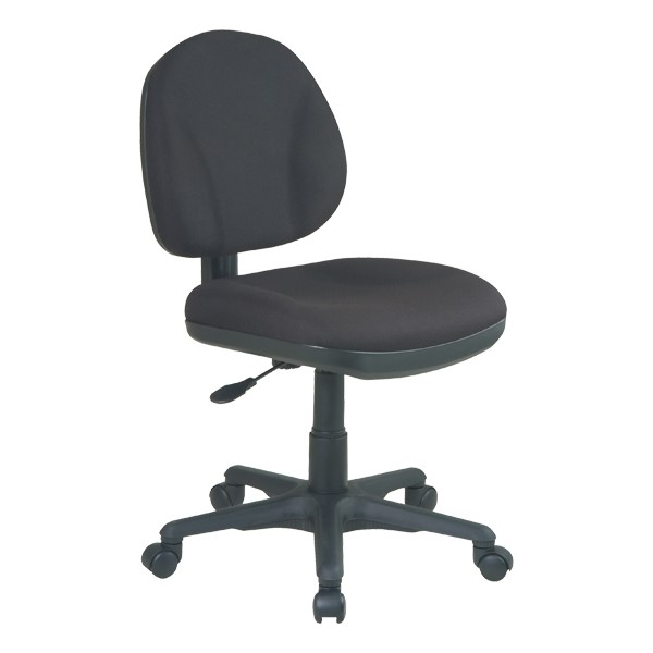 Work Smart Deluxe Ergonomic Task Chair w/o Arm Rests - Icon Black