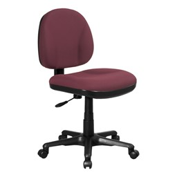 Work Smart Deluxe Ergonomic Task Chair w/o Arm Rests - Icon Burgundy